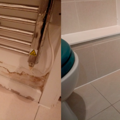 Handyman Services London Before-After-Radiator-Leak
